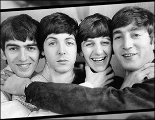 The Beatles Cut Up For Camera In 1964 Left To Right George Harrison